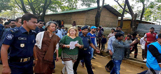 US envoy and its team visit Rohingya refugee camp in Kutupalong