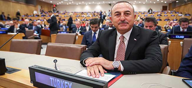 "Turkey's Foreign Minister Mevlut Cavusoglu at a high-level side event entitled ""Rohingya Crisis - A Way Forward"" at the 74th United Nations General Assembly in New York"